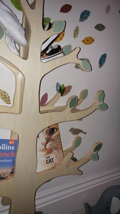 Tree book shelf and nature themed decals